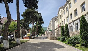 Stepanakert - Freedom Fighters' (Azatamartikneri) boulevard at the centre of Stepanakert