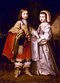 A young King Louis XIV with his brother the Duke of Orléans attributed to the Beaubrun brothers.jpg