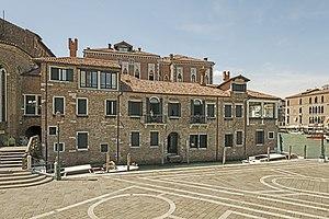 San Gregorio, Venice -  Abbazia di San Gregorio facade on rio della Salute