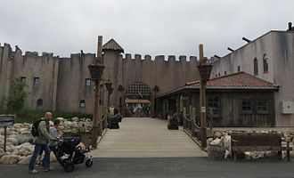Kristiansand Zoo and Amusement Park - The entrance to the pirate village of Abra Havn