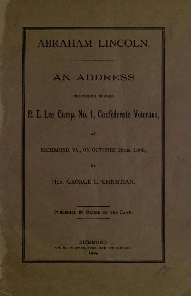 File:Abraham Lincoln address (1909).djvu