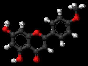 Acacetin - Image: Acacetin molecule ball