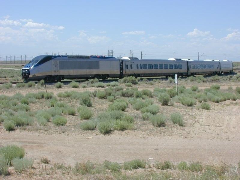 Acela Express testing at TTCI, June 2000