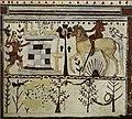 Achilles ambushing Troilus (on horseback) Etruscan fresco, Tomb of the Bulls, Tarquinia, 530–520 BCE.jpg