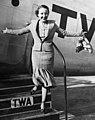 Actress Bessie Love exits a TWA Skyliner.jpg