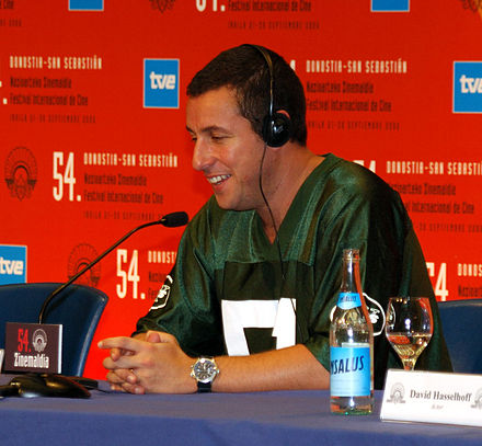 Sandler at a press conference for Click in 2005
