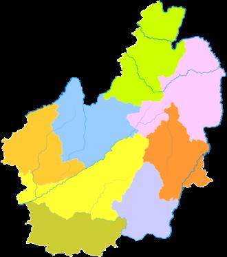 Lincang - Image: Administrative Division Lincang