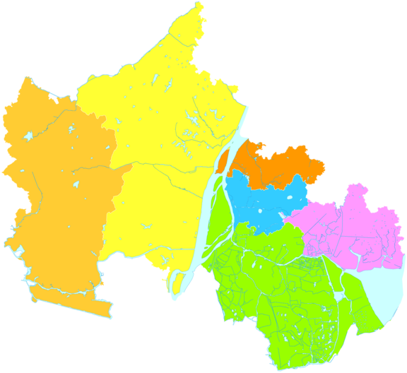 Administrative divisions of Ma'anshan City