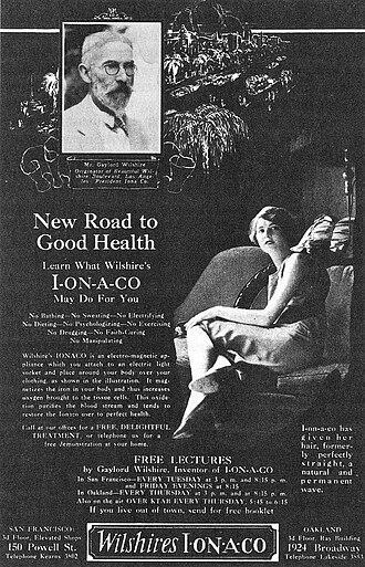 Ionaco - An advertisement for the Ionaco.