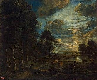 Aert van der Neer - Image: Aert van der Neer Night Landscape with a River WGA16489