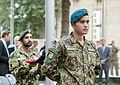 Afghan National Army soldiers participate in a change of command ceremony for the International Security Assistance Force and U.S. Forces-Afghanistan Aug. 26, 2014, in Kabul, Afghanistan 140826-D-HU462-449.jpg