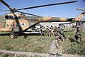 Afghan National Army soldiers with the 1st Kandak, 4th Brigade, 201st Corps board an Afghan National Army Air Force Mi-17 helicopter after executing a clearing operation near Hesarak, Nangarhar province 130517-A-WI517-213.jpg