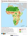 Africa The Human Influence Index, version 2 (5457431785).jpg