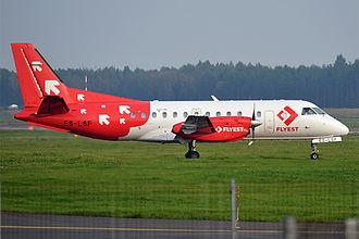 FLYEST - Flyest Saab 340AF at Tallinn Airport