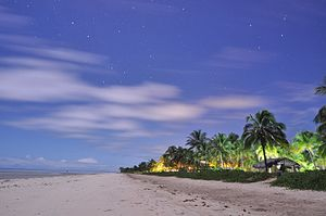 Alagoas - Toque Beach (Praia do Toque) at night, Alagoas, Brazil.