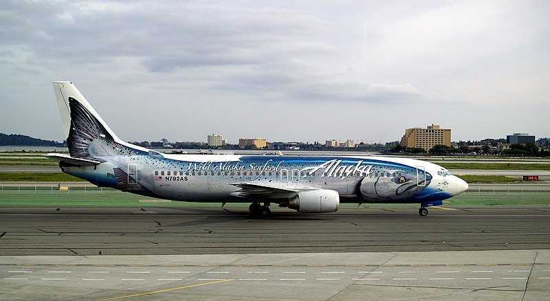 Fish painted on a Boeing 737 airplane