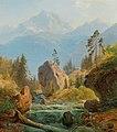 Albert Zimmermann - A mountain landscape with creek.jpg