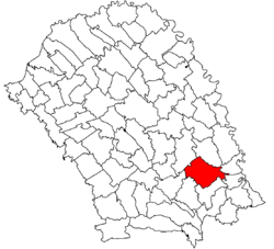 Location of Albești, Botoșani
