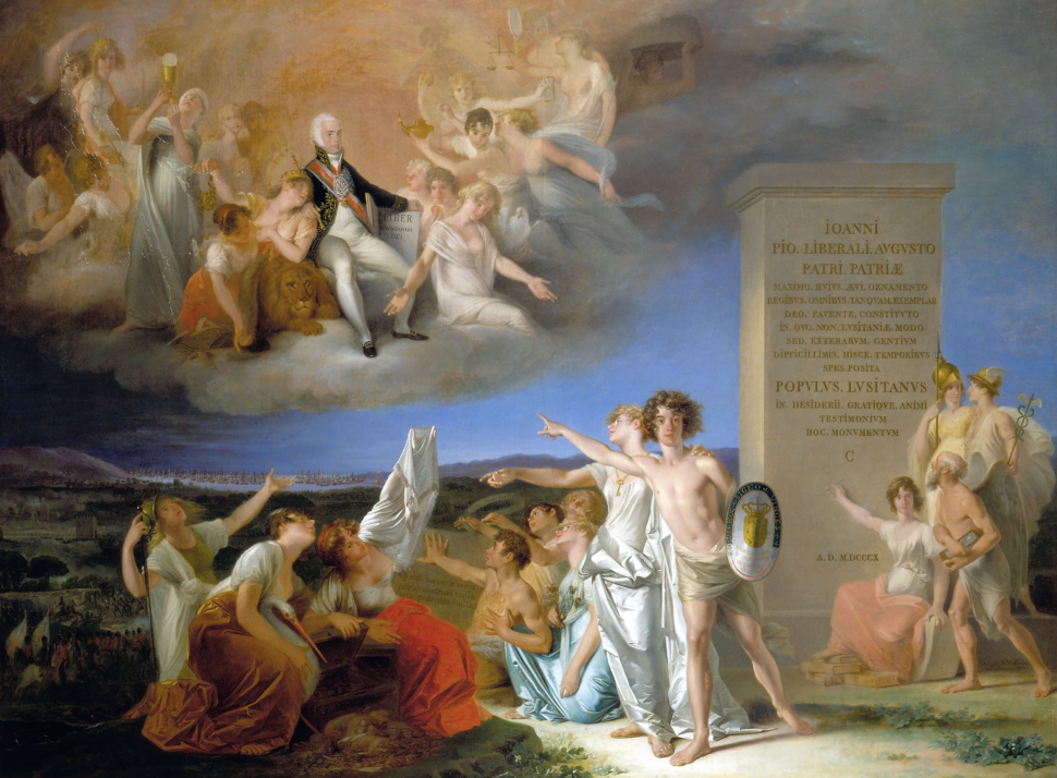 Alegoria %C3%A0s virtudes do Pr%C3%ADncipe Regente D. Jo%C3%A3o - Domingos Sequeira, 1810