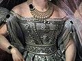 Alexandra Fedorovna in white Russian dress (1830s, Kruger, GIM) detail 01.jpg