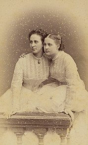 Alexandra Iosifovna and daughter Olga - c1867.jpg