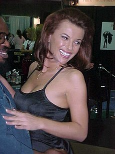 Alexandra Nice à l'AVN Adult Entertainment Expo à Las Vegas (Nevada), le 6 janvier 2000