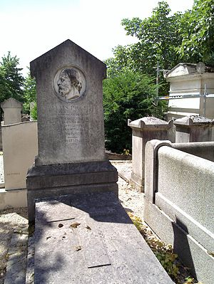 Alexis Paccard - Paccard's grave at the Père Lachaise Cemetery, Paris