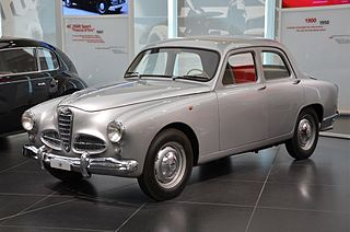 Alfa Romeo 1900 sports sedan designed by Orazio Satta