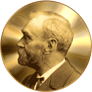 Alfred Nobel mirrored