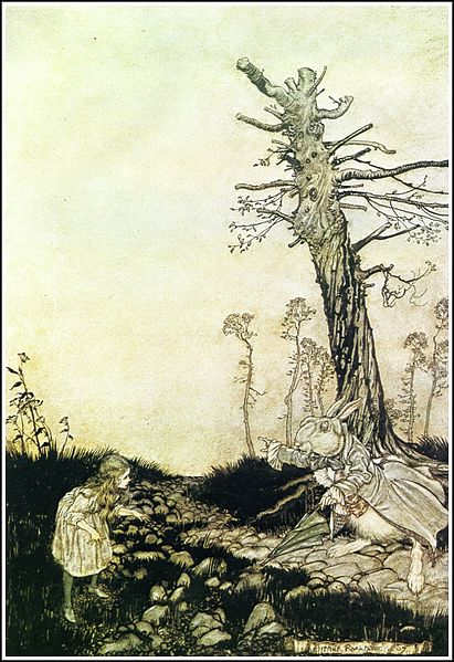 File:Alice in Wonderland by Arthur Rackham - 04 - Why Mary Ann, what are you doing out here?.jpg