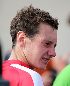 English: Alistair Brownlee, gold medalist at t...