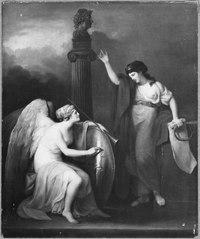 Allegori över Gustav III statsvälvning