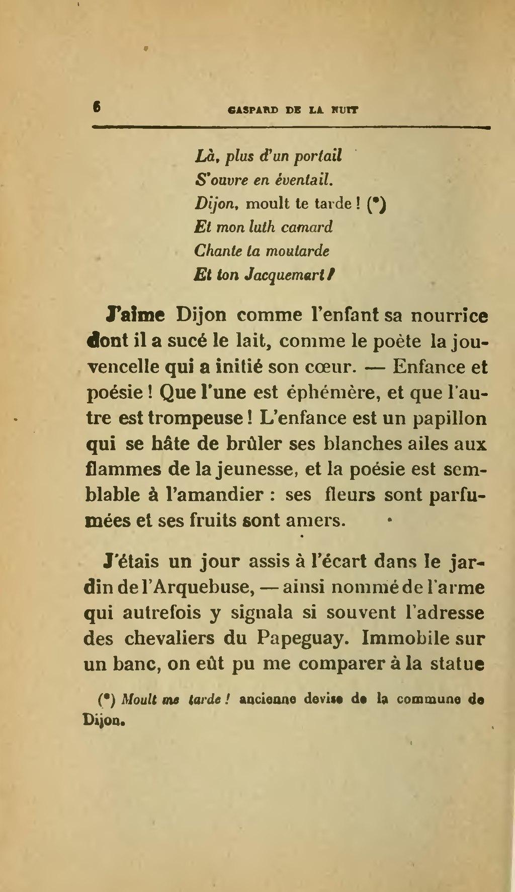 Pagealoysius Bertrand Gaspard De La Nuit édition 1920