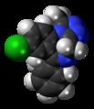 Alprazolam molecule spacefill.png