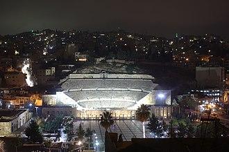 Roman theater (Amman) - Night View