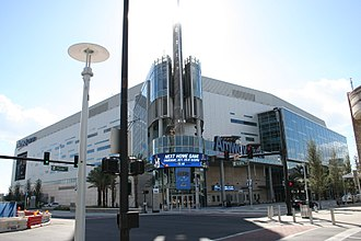 Amway Center, the Magic's arena since 2010 AmwayCenterFirstGame.jpg