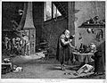 An alchemist reading a book; his assistants stirring the Wellcome L0004324.jpg