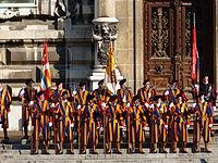 Anciens gardes suisses pontificaux à Lausanne.