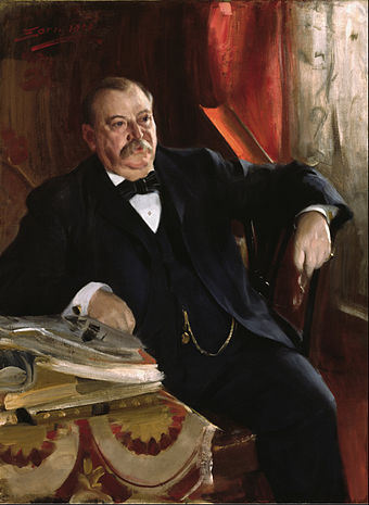 Oil painting of Grover Cleveland, painted in 1899 by Anders Zorn Anders Leonard Zorn - Grover Cleveland - Google Art Project.jpg