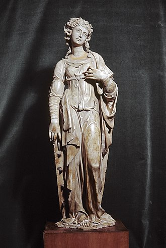 Andrea Ferrucci - Saint Catherine of Alexandria, made for an  architectural niche, c. 1515 (Walters Art Museum)