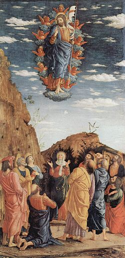 Andrea Mantegna festménye Krisztus mennybemeneteléről