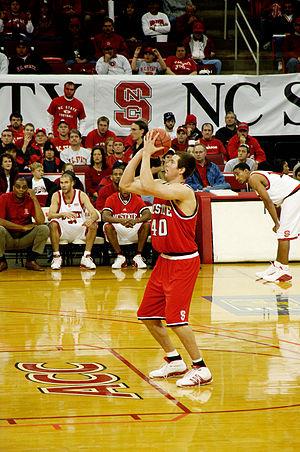 Andrew Brackman - Andrew Brackman playing basketball for North Carolina State University
