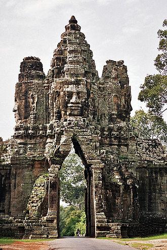 Angkor - Gate into Angkor Thom