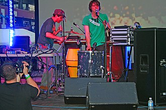 Animal Collective discography - Animal Collective performing at the Seaport Music Festival at South Street Seaport, New York City, on June 1, 2007.