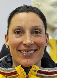 Anja Schneiderheinze bei der Olympia-Einkleidung Erding 2014 (Martin Rulsch) 02