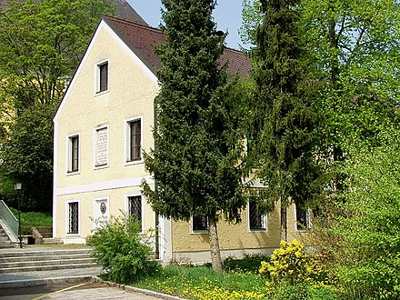 The house in Ansfelden, Austria, where Anton Bruckner was born Ansfelden bruckner geburtshaus.jpg
