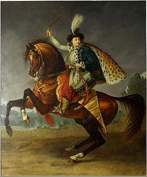 Antoine-Jean Gros - Equestrian portrait of prince Boris Yusupov, 1809