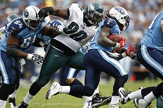 2010 Philadelphia Eagles season - Eagles' defensive tackle Antonio Dixon against the Tennessee Titans, October 24, 2010