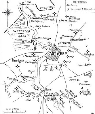 Siege of Antwerp (1914) - Image: Antwerp defences, 1914