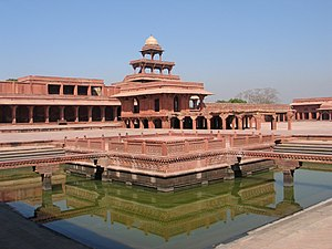 Ruqaiya Sultan Begum - Fatehpur Sikri: Hujra-I-Anup Talao or the Turkish Sultana House, a pleasure pavilion attached to a pond, was used by Empress Ruqaiya